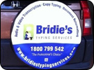 Bridies Typing Services Custom Tyre Cover