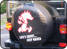 Jeep Naked Custom Tyre Cover