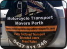 Spare Tyre Cover for Motorcycle Transport Movers Perth