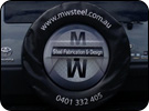 Custom Spare Tyre Cover for MW Steel