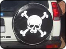 Skull and Cross Bones Spare Tire Cover